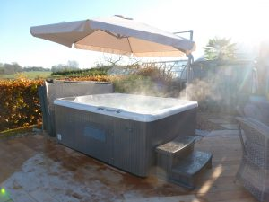 Hot and Steamy Hot Tub!