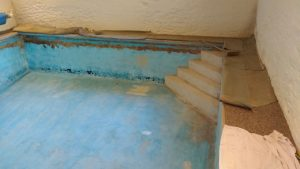 Blue Mosaic before