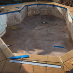 Pool Shell all prepared for the new Site Liner